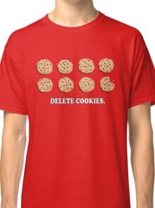 Delete Cookies (Red) Classic T-Shirt