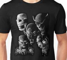 Monsters - Vampire, Werewolf, Zombie, Mummy and Frankenstein Unisex T-Shirt