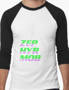 Zephyr Mob Sylables - Lime and Lilac Men's Baseball ¾ T-Shirt