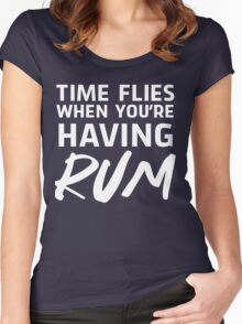 Time flies when you're having rum Women's Fitted Scoop T-Shirt