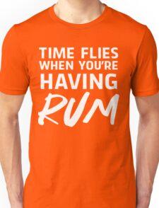 Time flies when you're having rum Unisex T-Shirt