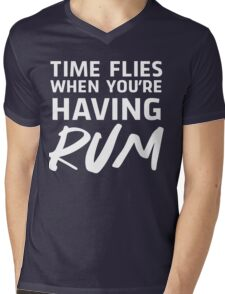 Time flies when you're having rum Mens V-Neck T-Shirt