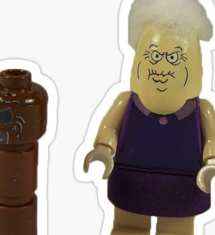 Lego Spongebob Chocolate Lady Sticker
