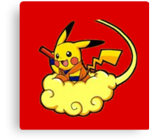 Pikachu is Flying Canvas Print