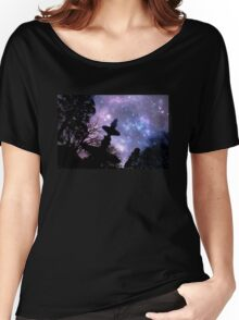 Silhouette of fountain at Princes Square Launceston Tasmania Women's Relaxed Fit T-Shirt