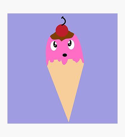 Amazed Ice Cream Cone Photographic Print