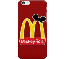 Mickey D's iPhone Case/Skin