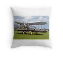 Fairey Flycatcher replica G-BEYB Throw Pillow
