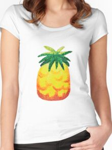 Sparkly Pineapple Women's Fitted Scoop T-Shirt