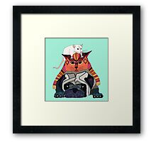mouse cat pug mint Framed Print