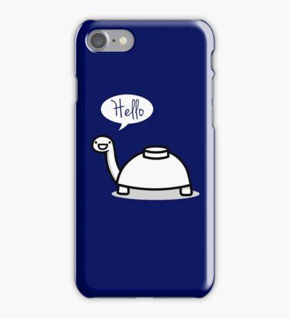 Mine turtle stops by to say hello iPhone Case/Skin
