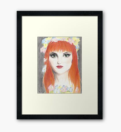 Hayley Williams Flower Crown Framed Print
