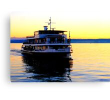 """Karlsruhe"" approaching Meersburg Harbour Canvas Print"