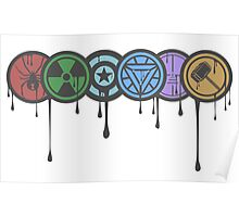 Avengers Colour Smash Poster