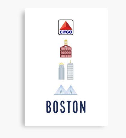 Boston Landmarks Canvas Print