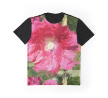 Painted Hibiscus Tropical Flower Graphic T-Shirt