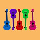 Ukulele - colours by bexcaboo