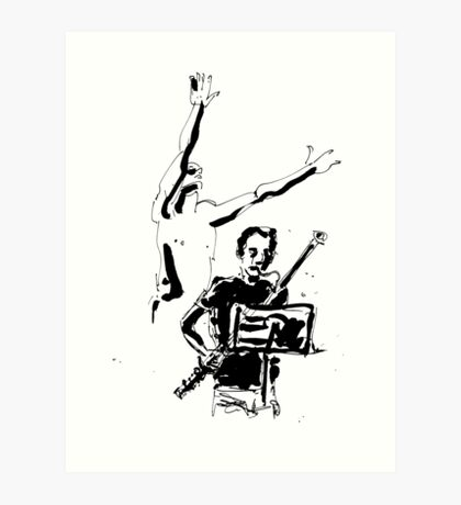 Jazz & dance Art Print