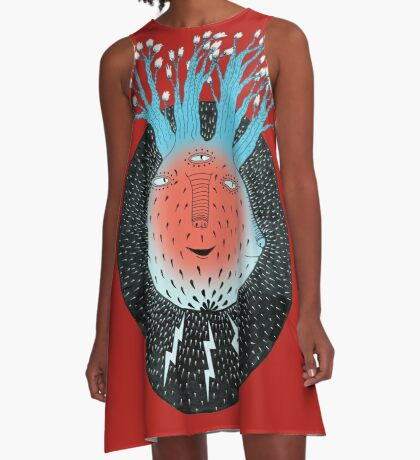 Cosmic Epiphany Heart A-Line Dress