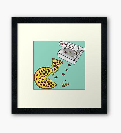 Pacman Pizza Framed Print