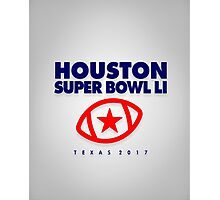 Super Bowl LI star ball Photographic Print