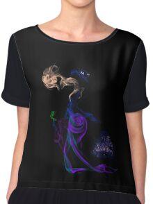 Ms. Poppins Single Smoke  Chiffon Top