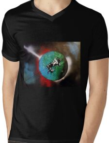 Stunt Rider In Space Mens V-Neck T-Shirt