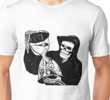 Grim Reaper and Man Unisex T-Shirt