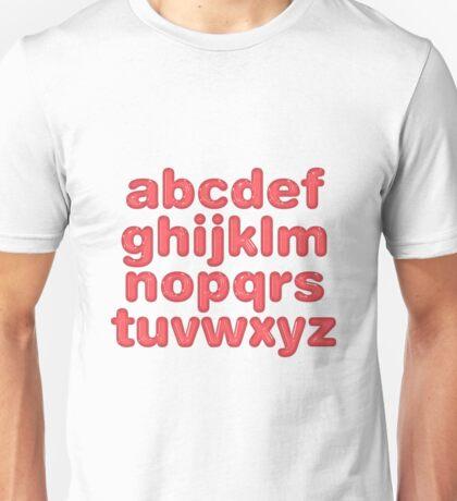 Plastic Alphabet Unisex T-Shirt