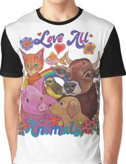 Love all Animals  Graphic T-Shirt