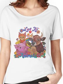 Love all Animals  Women's Relaxed Fit T-Shirt