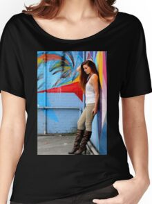 Young Woman Women's Relaxed Fit T-Shirt