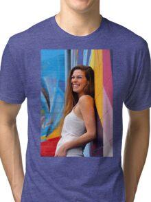 Young Woman Tri-blend T-Shirt