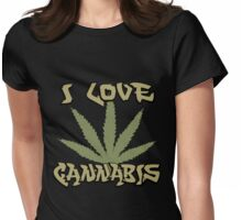 I Love Cannabis Marijuana Womens Fitted T-Shirt