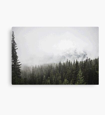 Foggy Landscape PixelArt Canvas Print