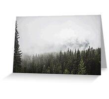 Foggy Landscape PixelArt Greeting Card