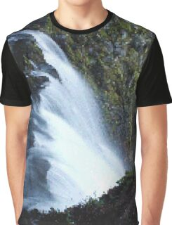 Waterfall PixelArt Graphic T-Shirt