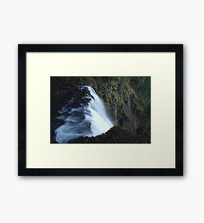 Waterfall PixelArt Framed Print