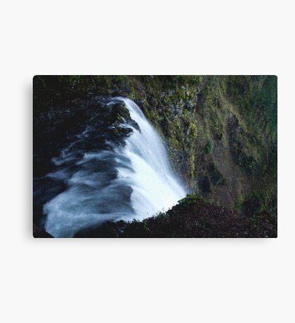 Waterfall PixelArt Canvas Print