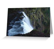 Waterfall PixelArt Greeting Card