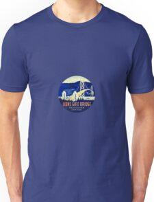 Lions Gate Bridge Vancouver BC Vintage Travel Decal Unisex T-Shirt