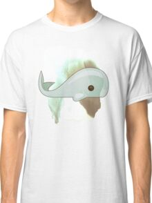 Cute Whale Watercolor and Drawing Sea Cartoon Design Classic T-Shirt