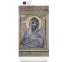 Macabre Street Art Shrouded Skelton with Halo iPhone Case/Skin