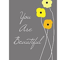 You are Beautiful in Yellow Photographic Print