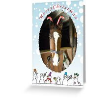 Merry Christmas From Our Barn to Yours Greeting Card