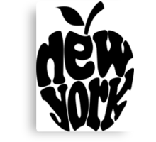Big Apple New York, black Canvas Print