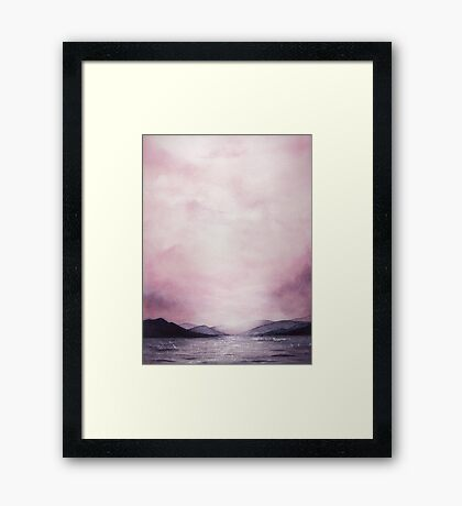 Dusk - Watercolor Framed Print