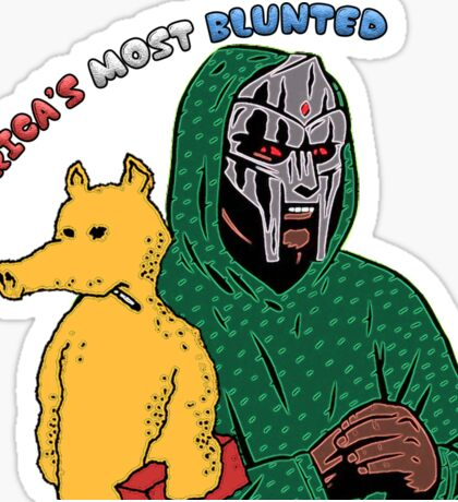 America's Most Blunted - DOOM & QUAS Sticker