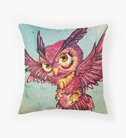 soul mate owl Throw Pillow