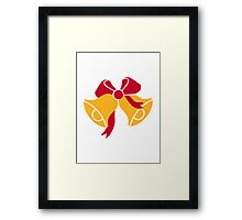 Bells with bow Framed Print